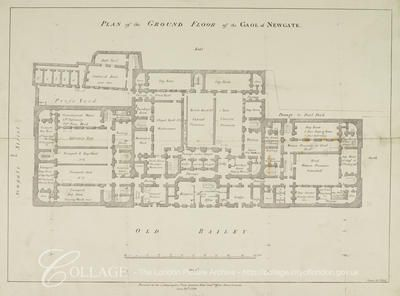 Plan of the ground floor of Newgate Prison, Old Bailey, in ... Bailey Yard Schematic Diagrams on