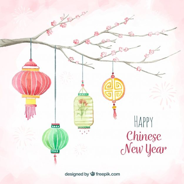 Download Watercolor Chinese New Year Background For Free In 2020