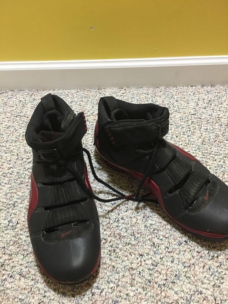 05c7d1aeff2 Nike Zoom Lebron IV 4 Size 12 Black Crimson Red Excellent All Star 314647  002  Nike  BasketballShoes