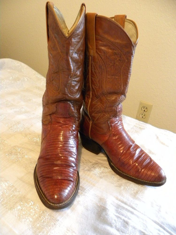 4e5749ebdd0 Dan Post Size 7.5 Cowboy Boots Armadillo Leather Honey Brown Slim ...