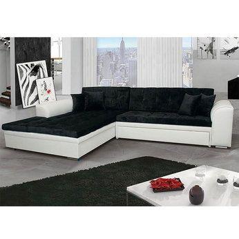 Meuble De Salon Canape Canape D Angle Noir Blanc Sofamobili Meuble Salon Mobilier De Salon Canape Angle Convertible