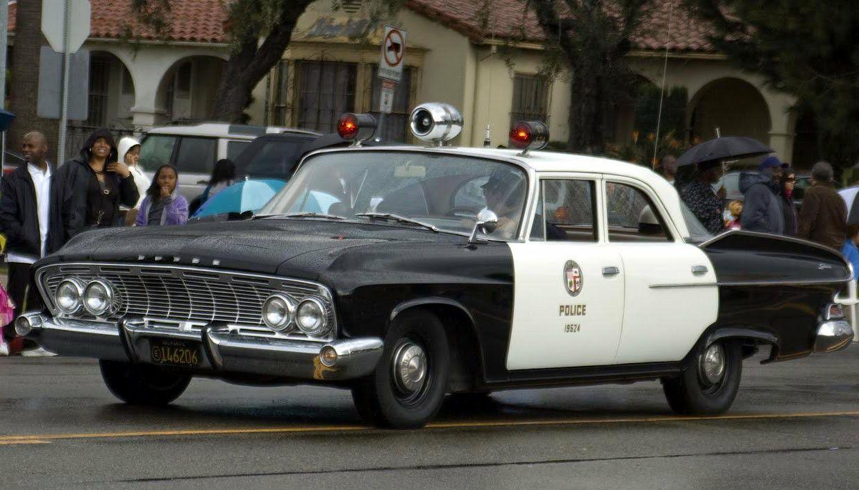 1961 Dodge Dart Seneca Sedan Police Cars Emergency Vehicles Los Angeles Police Department