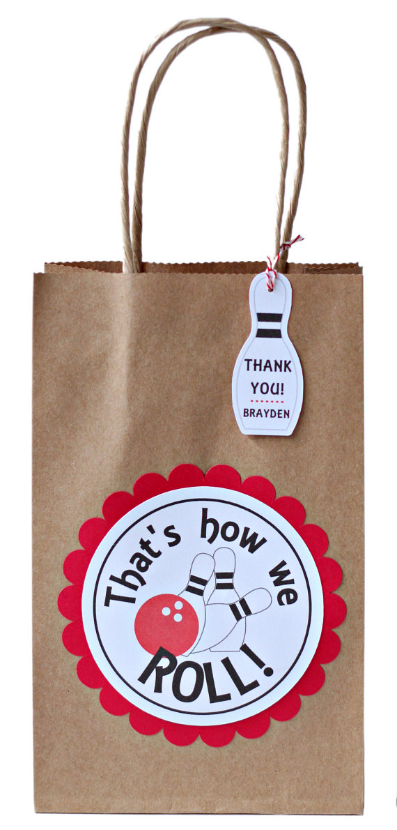 Bowling Party Favors Bags Goody