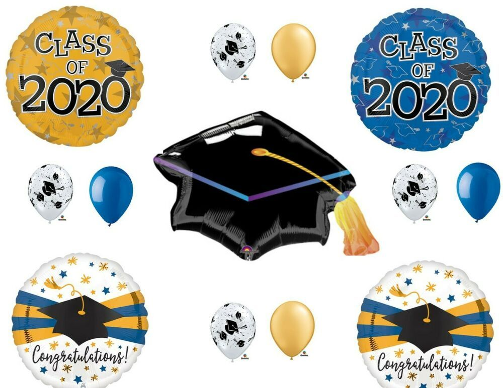 Class of 2020 Blue & Gold Graduation Party Balloons Decoration ...