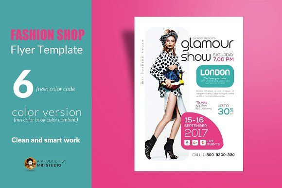 Fashion Shop Flyer  Fashion Shops Font Free And Fonts
