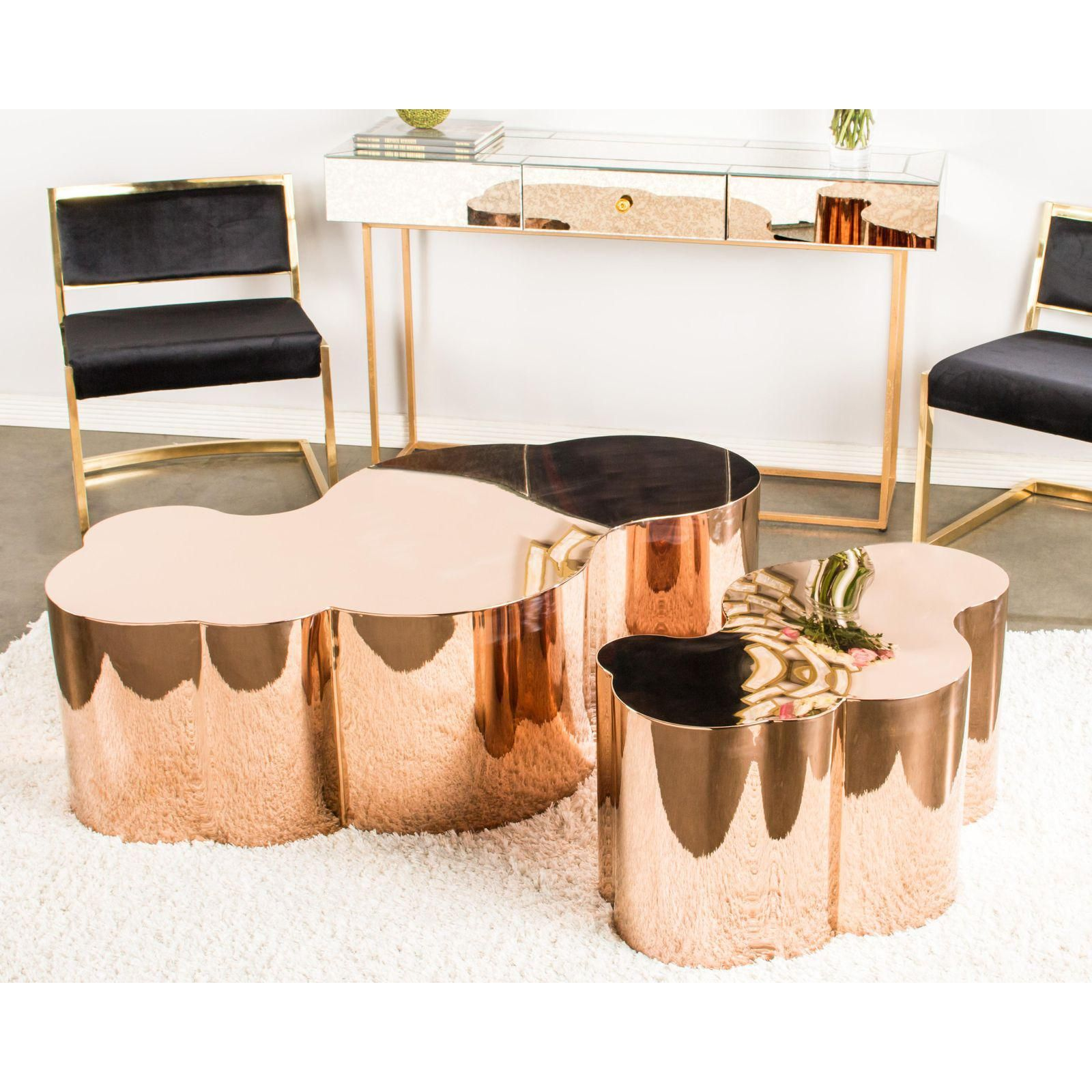 Luca Rose Gold Coffee Table Solid Coffee Table Gold Coffee Table Rose Gold Coffee Table [ 1600 x 1600 Pixel ]