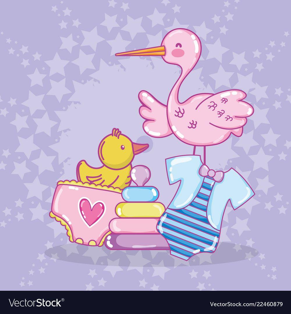 Baby shower cartoons vector image on Dibujos, Regalos