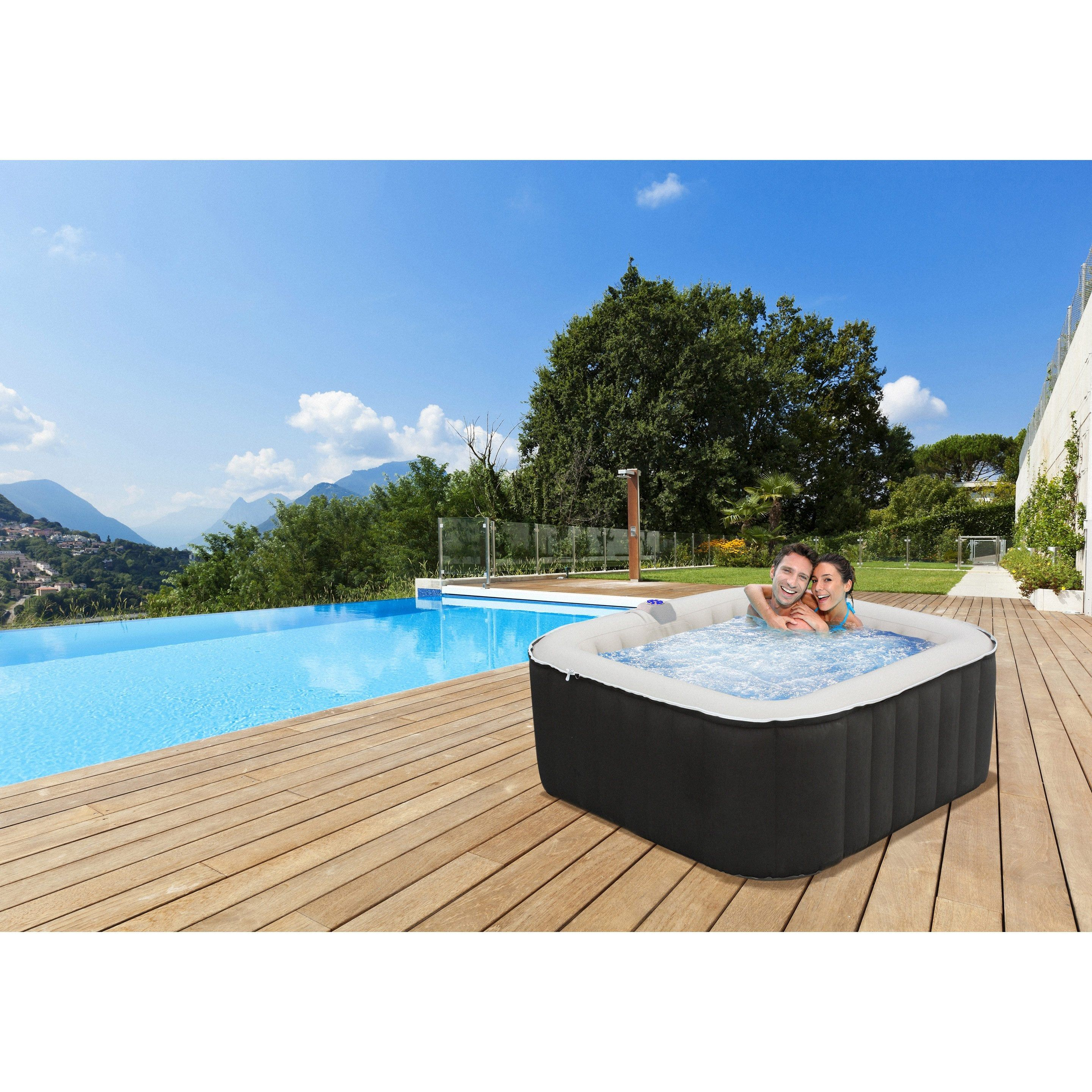Jacuzzi Gonflable Leroy Merlin spa gonflable pur 4 personnes cebu water'clip bcf outdoor