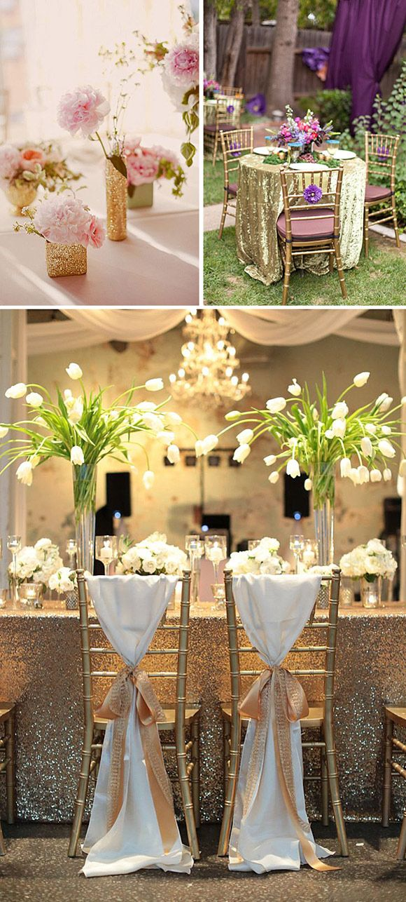 Tendencias de bodas 2015 brillos y purpurina bodas for Decoraciones para bodas sencillas