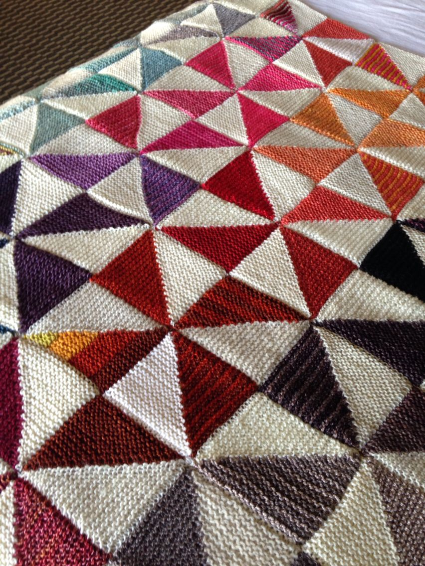 The Triangles, Diamonds and Squares... Oh My! Blanket pattern, by ...