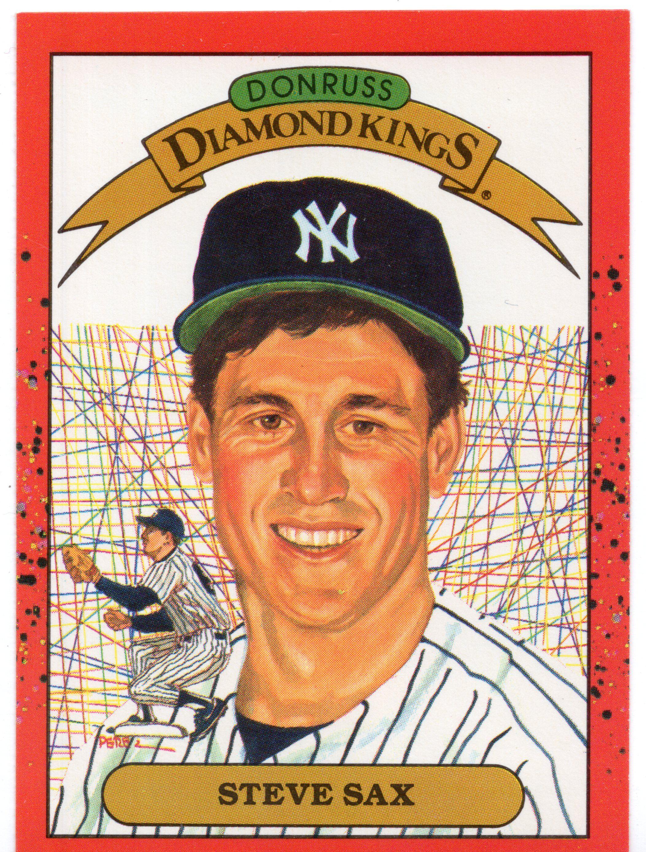 1990 donruss new york yankees baseball card 2 steve sax