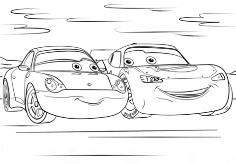 Lightning Mcqueen And Sally From Cars 3 Coloring Page Disney Prinzessin Malvorlagen Lightning Mcqueen Malvorlagen