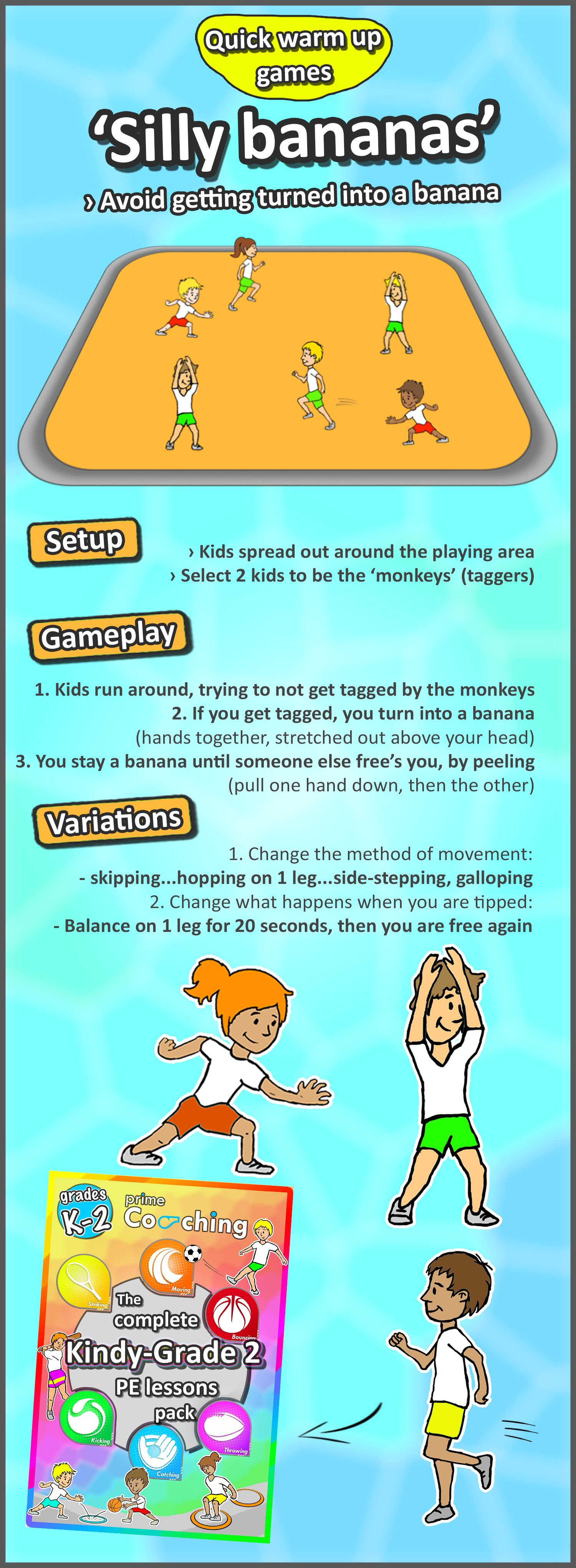 Kindergarten to Grade 2 PE Games - Complete Sport Skill and Games ...