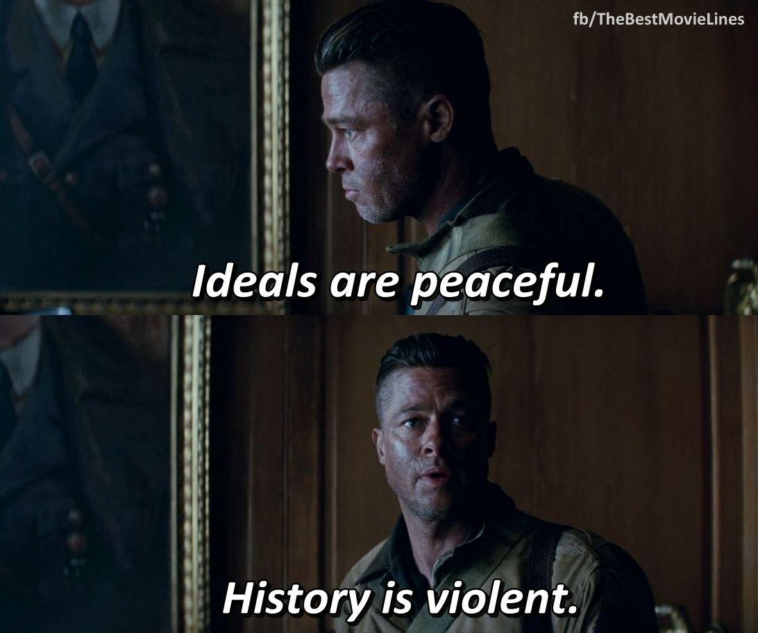 Fury 2014 Brad Pitt Logan Lerman Fury Movie Movie Quotes Fury 2014