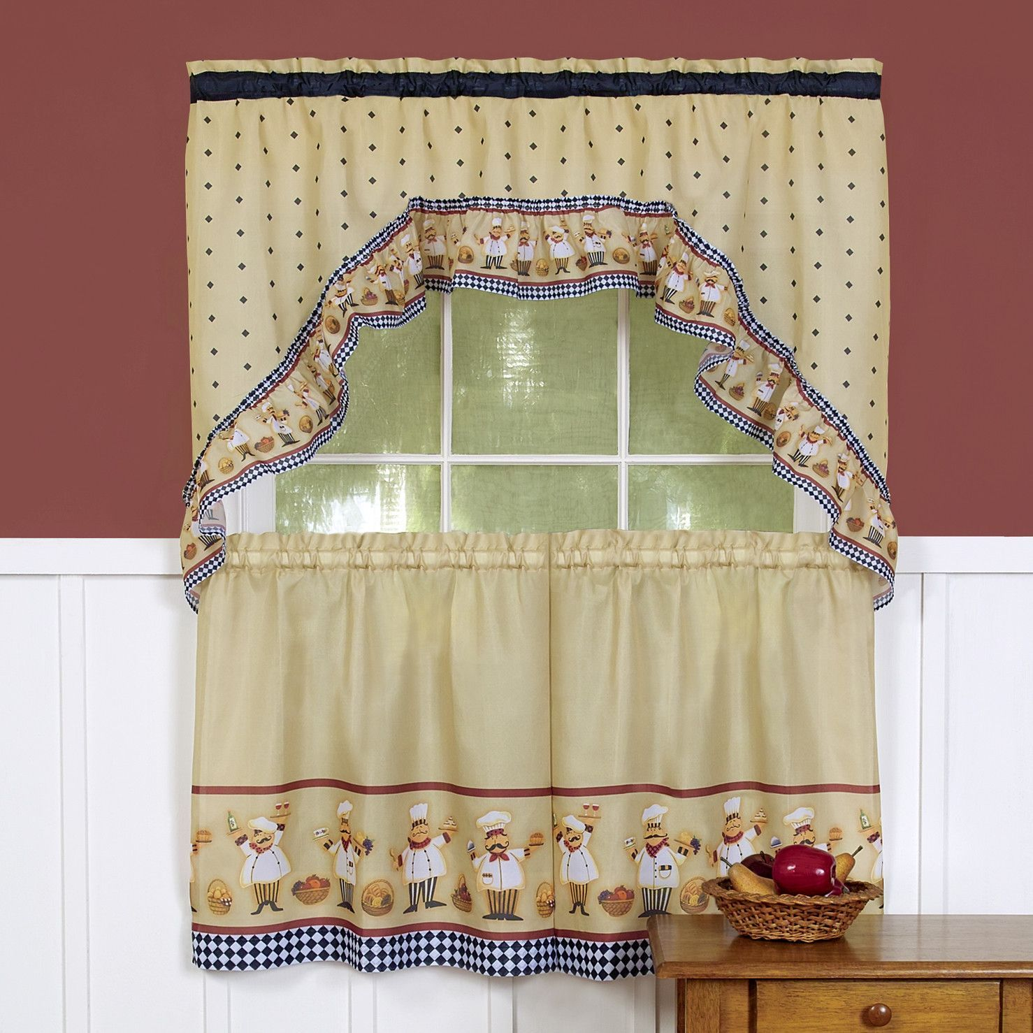 Cucina valance and tier set decor ideas pinterest cucina and