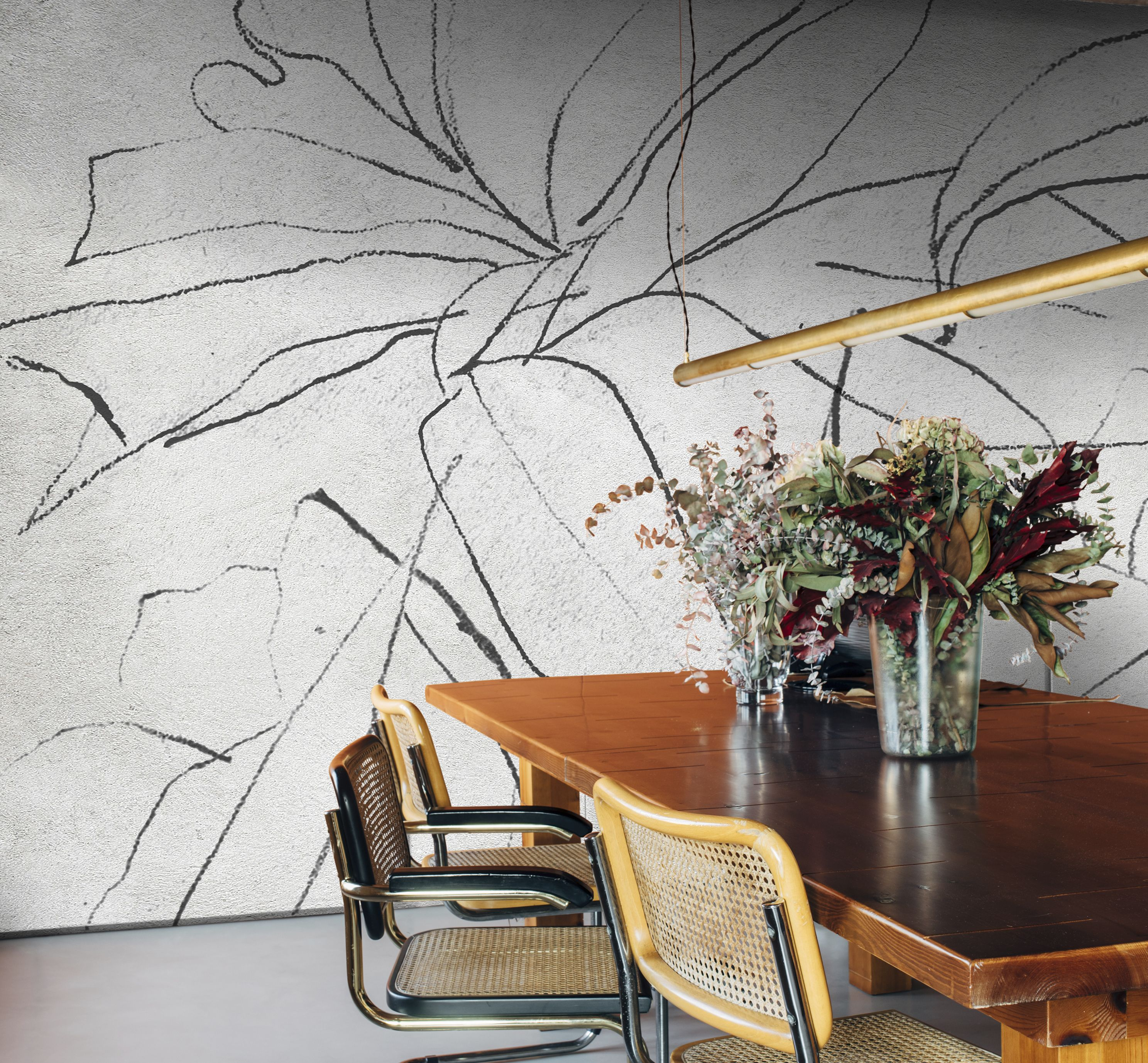 Abstract Flora Mural reference 6800406 nonwoven! Thanks