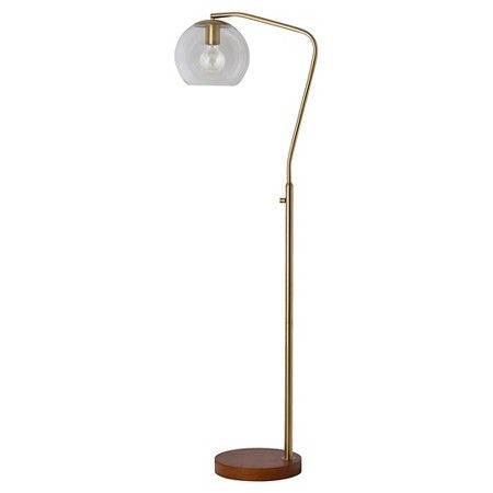 Let havenly create your dream space through a fun and affordable menlo collection floor lamp brass by target havenly mozeypictures Gallery