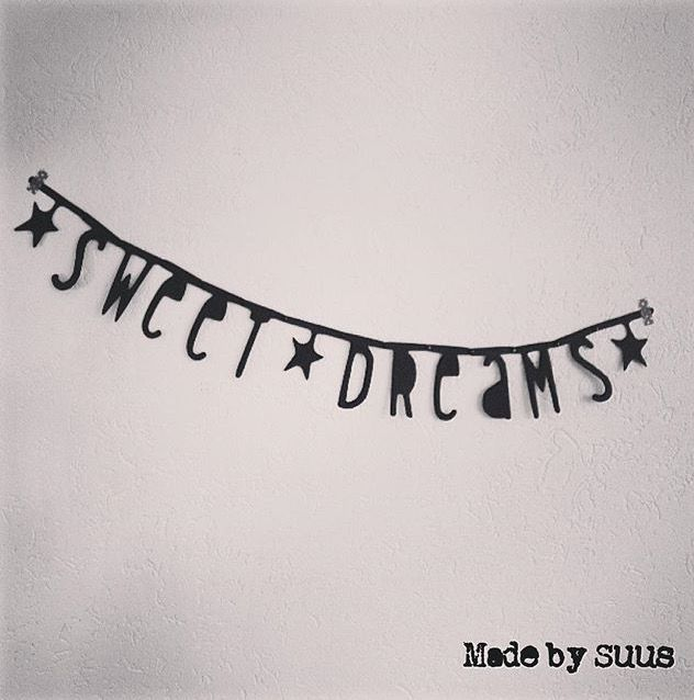 Wonderbaarlijk Sweet dreams tekst slinger: Leuk voor op de baby kamer   Slinger EO-57