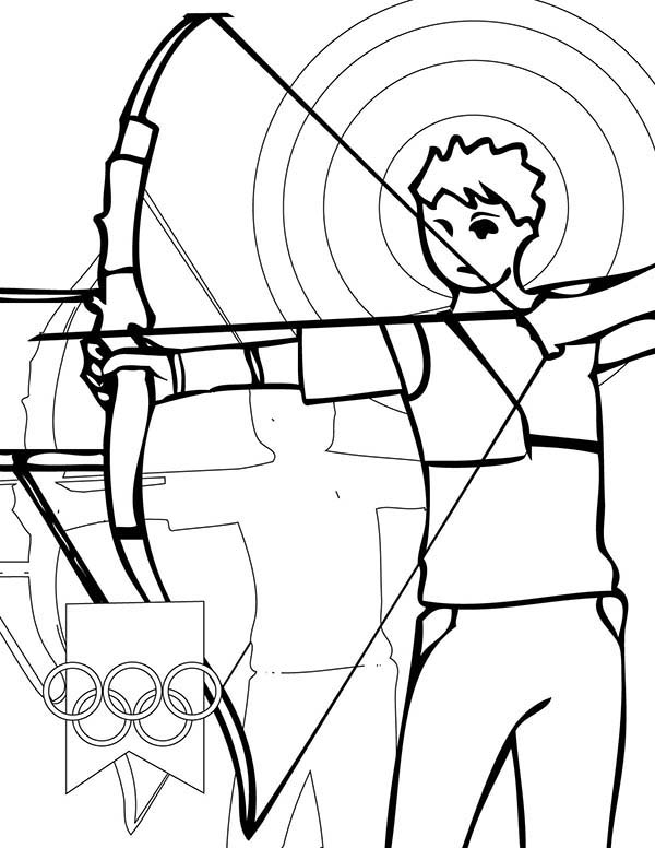 Olympic Games Archery Coloring Page Coloring Sky Coloring Pages Olympic Games Coloring Pictures