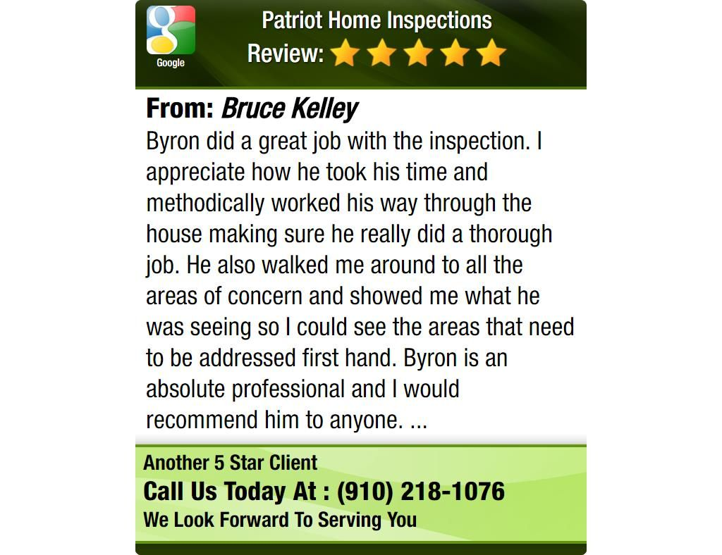 Byron Did A Great Job With The Inspection I Appreciate How He Took His Time