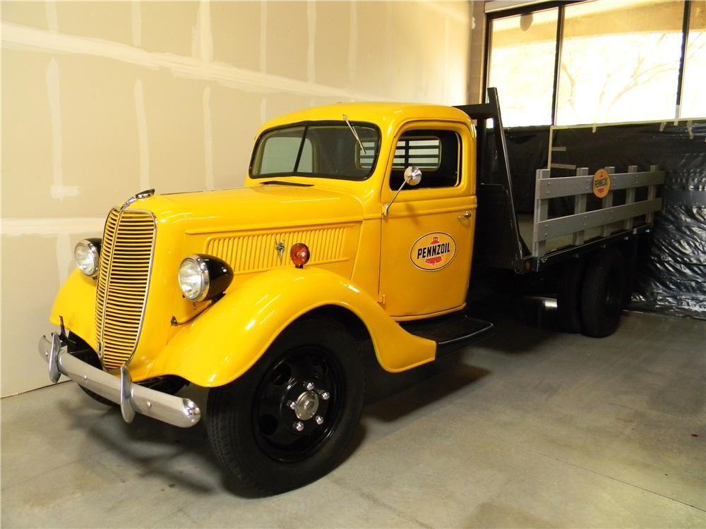 1937 FORD FLATBED PICKUP - Barrett-Jackson Auction Company - World\'s ...