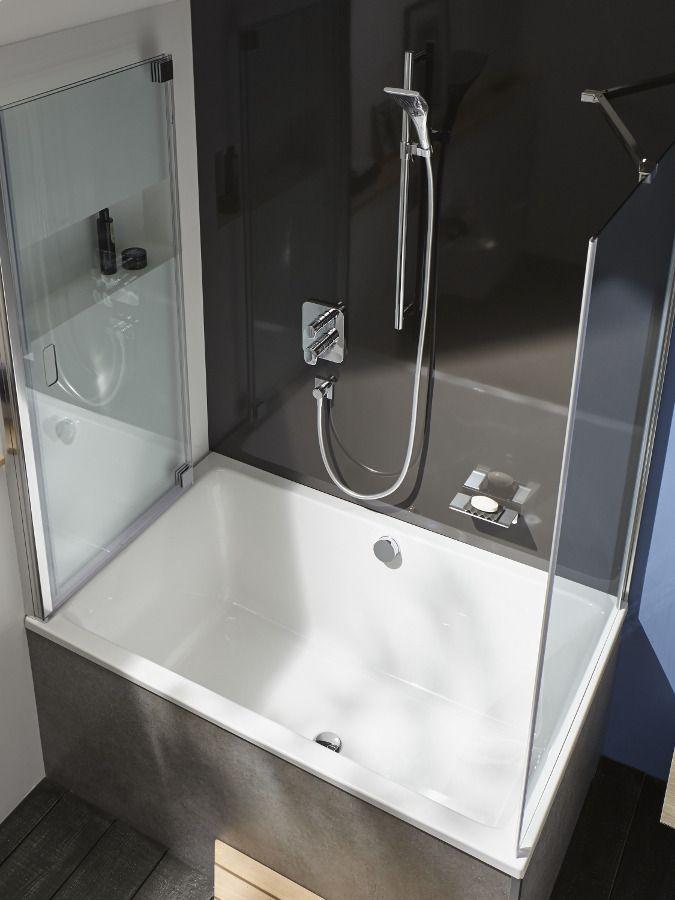 Installation encastr�e d'un robinet de bain-douche