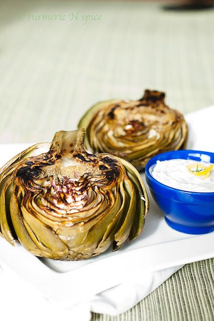 Charred Artichokes from Turmeric N Spice