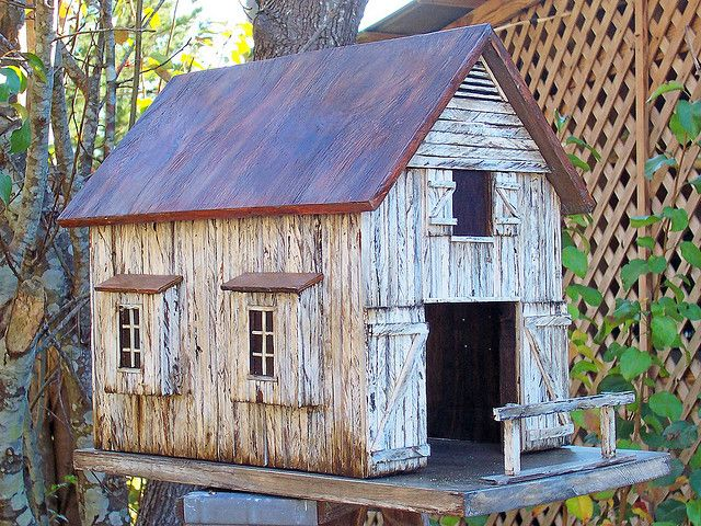 Superb Old Barn Birdhouse Bird Houses Bird Houses Bird House Interior Design Ideas Philsoteloinfo