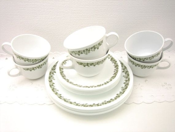 Corelle Crazy Daisy Dishes - Tea Cups, Saucers, Lunch Plates   Crazy ...