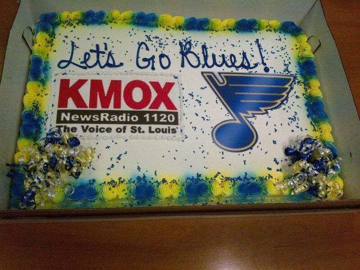 Thanks to our good friends and radio partners at KMOX for the great cake!