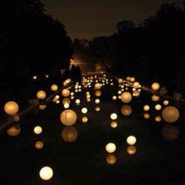 Lighting for the pool! | Pics I Love | Pinterest | Floating candles ...