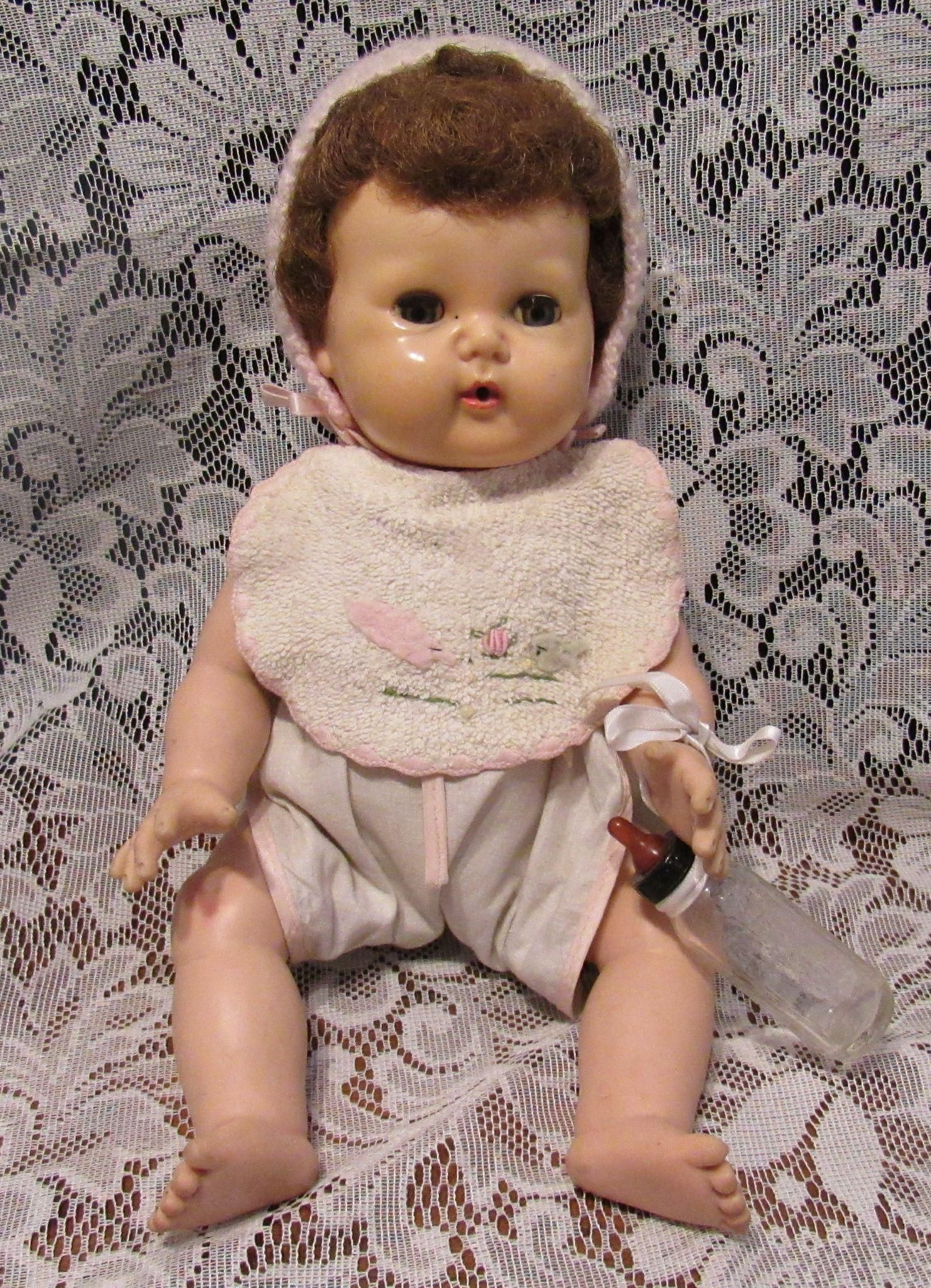 Vintage American Character Tiny Tears Doll In Original