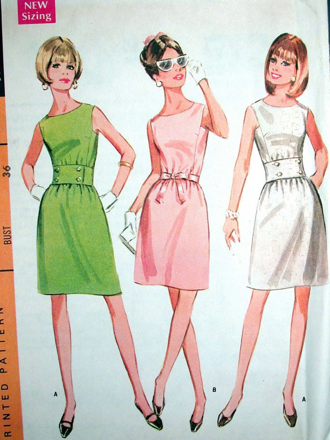 McCalls Dress Pattern No 9253 UNCUT Vintage by CaliforniaSunset ...