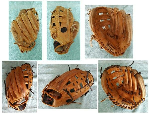 Old School Hillerich And Bradsby Louisville Slugger Glove Relaced Cleaned And Conditioned Gloves Louisville Slugger Leather Glove