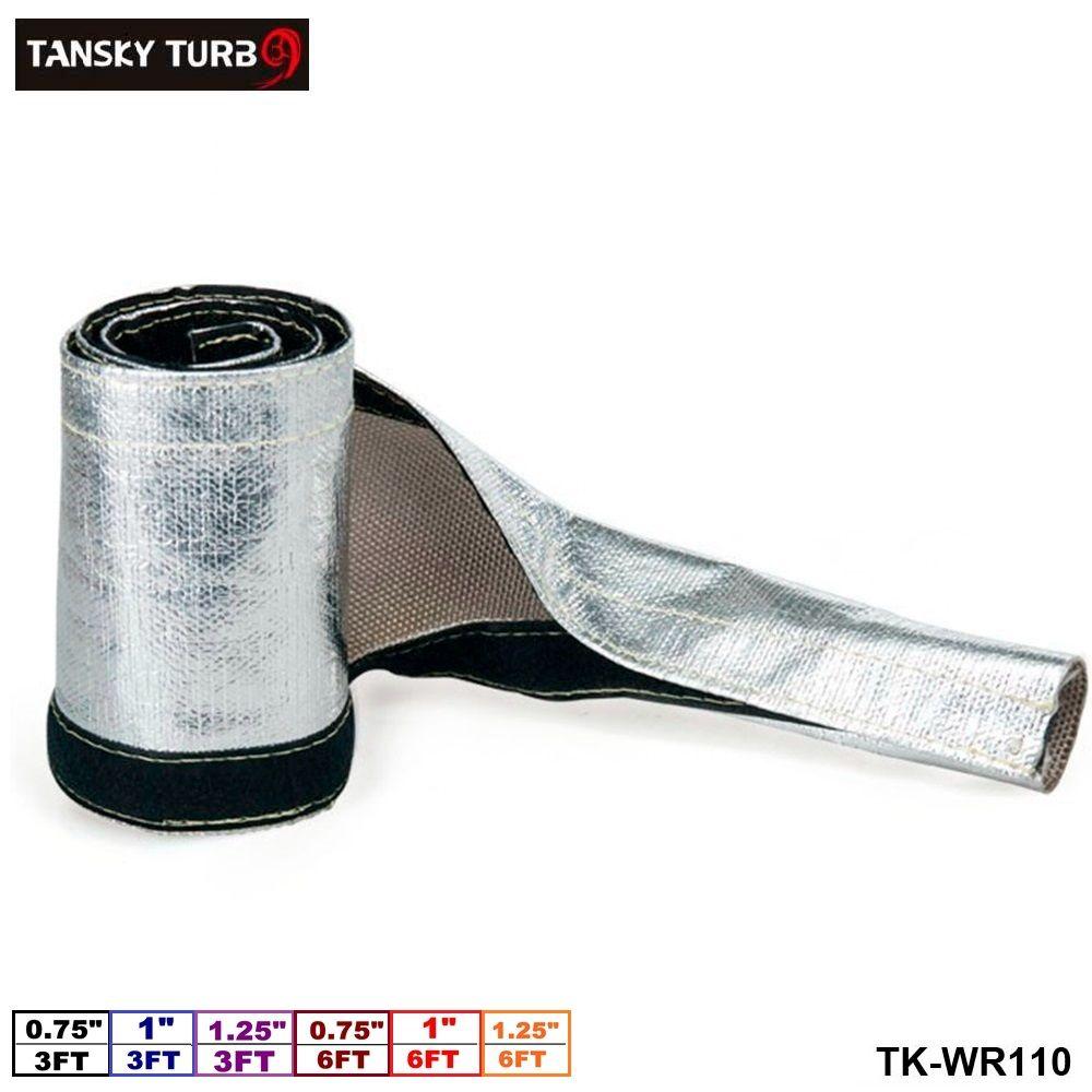 TANSKY-금속 열 쉴드 열 절연 와이어 호스 커버 열 덮개 (L: 피트 & 6 ...