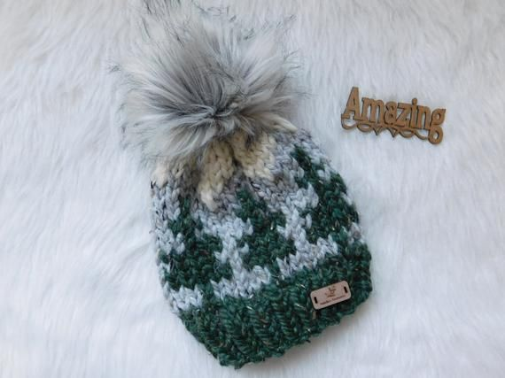 06dc5488f3e The Mountain toque. Toddler winter hat. Child hats. Women mountain hat.