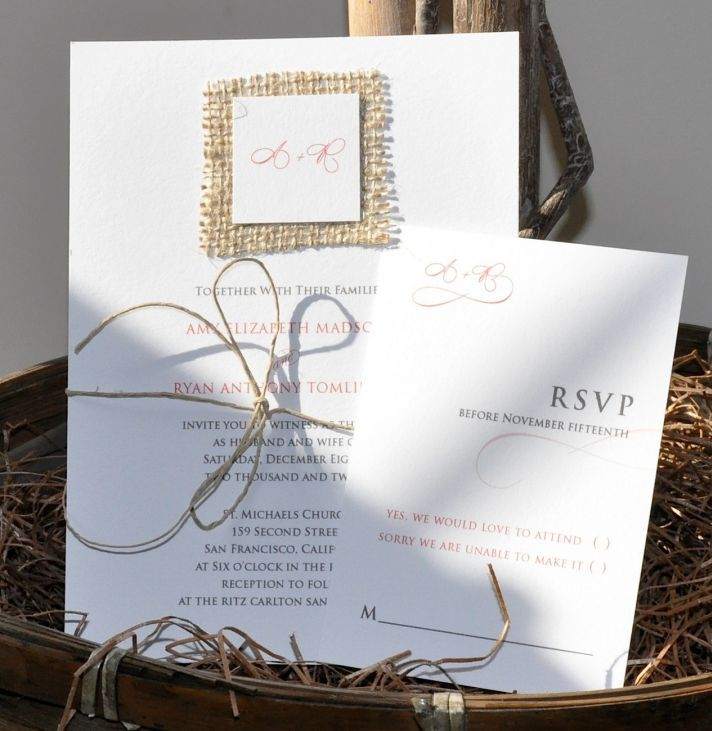 Burlap Invitations Wedding: Burlap On Invitations