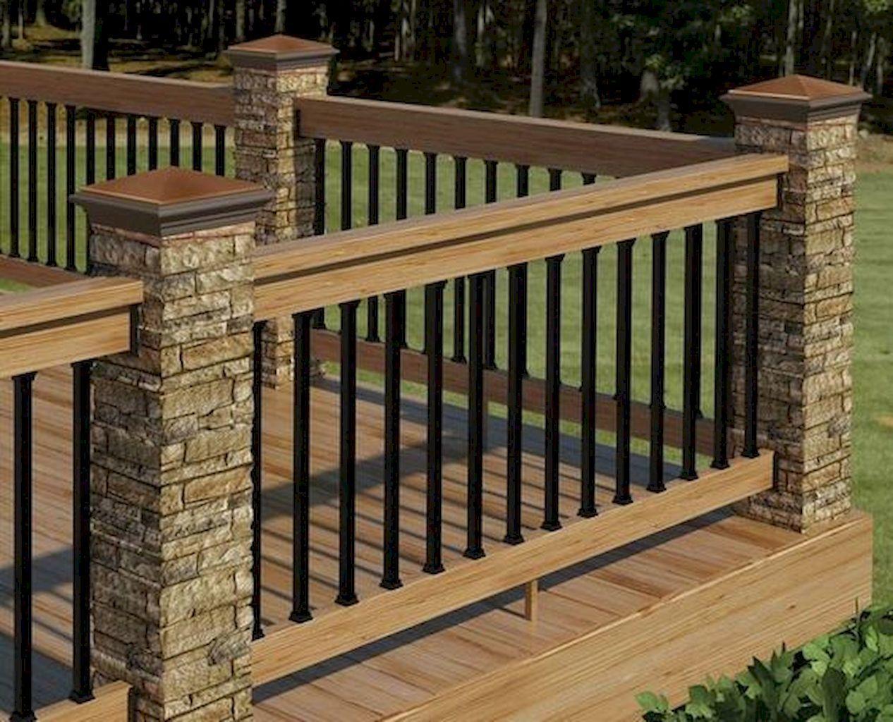 Top 50 Best Metal Deck Railing Ideas – Backyard Designs
