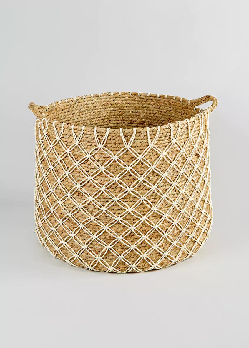 knotted basket 50cm x 45cm x 39cm  natural  basket