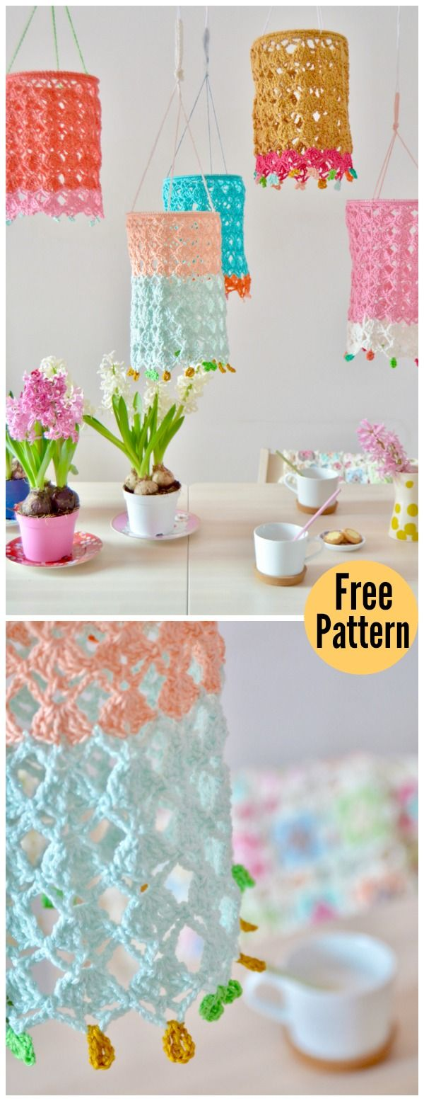 Pretty Lantern Free Crochet Pattern | knitting | Pinterest | Tejido ...