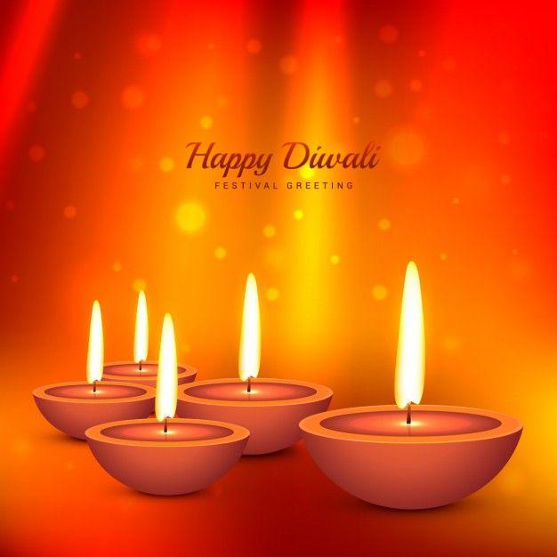 Download Diwali Card With Bokeh Orange Background For Free Diwali Diwali Cards Orange Background