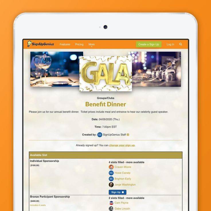 plan a gala benefit dinner event for your charitable organization