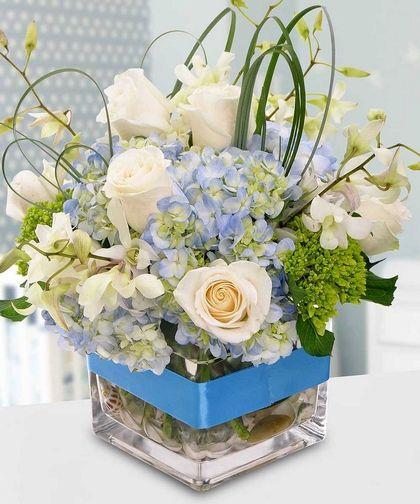 Baby Boy Blue Floral Arrangementflowers By In Bloom Florist Insta
