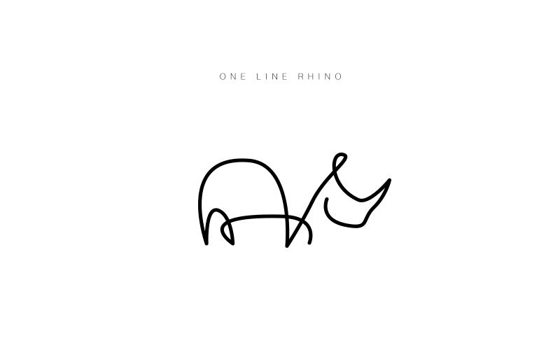 One line animal logos | Images: art | Rhino logo, Animal