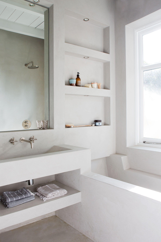 badkamer-beton-ciré | abode. | Pinterest | Interiors, Bath and ...