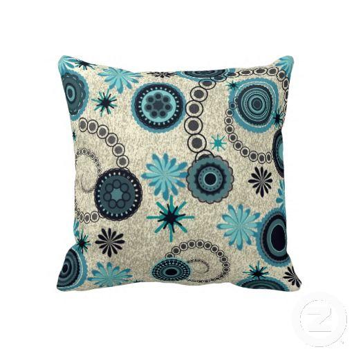 Retro Abstract Print Pillow