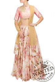Pink lehenga , two piece , ethnic collection , pernia pop up