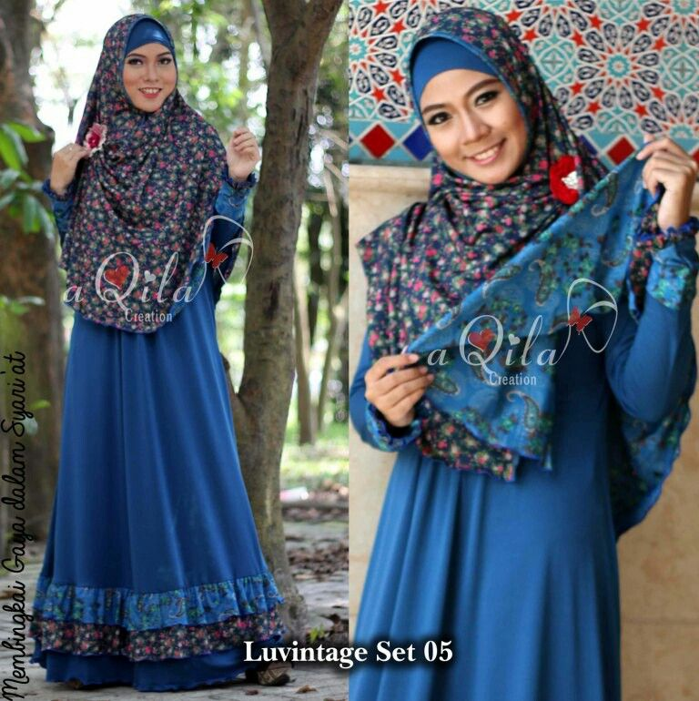 Luvintage Set 05 Dress Material Polos Jersey Import Material