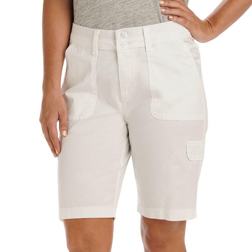 Women S Lee Avery Comfort Waist Cargo Bermuda Shorts Size 4
