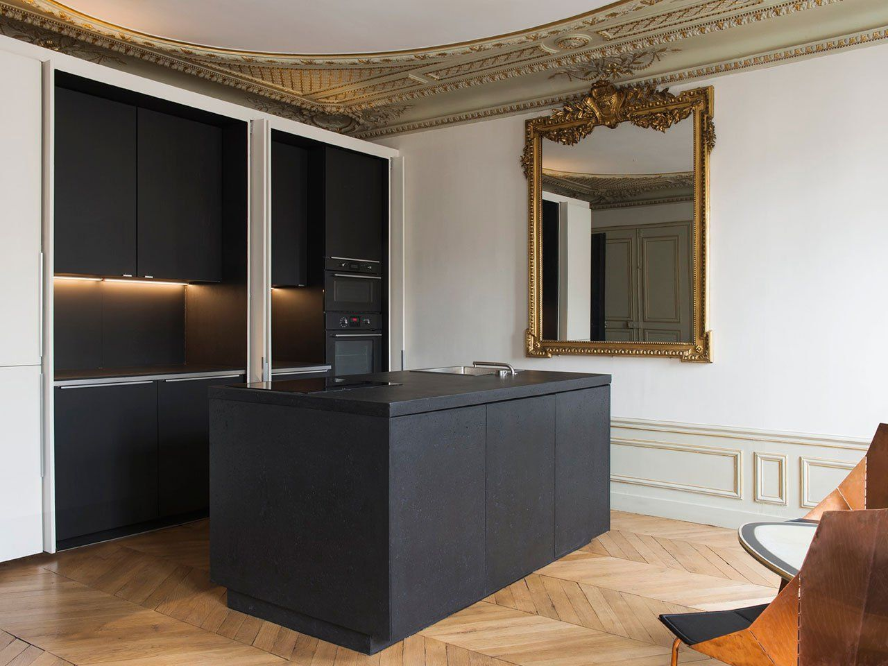 Lovely Bourgeois Opulence Meets Crisp Modernism In A Renovated Parisian Apartment  By Diego Delgado Elias. Cheap KitchenKitchen OvenBacksplash ...